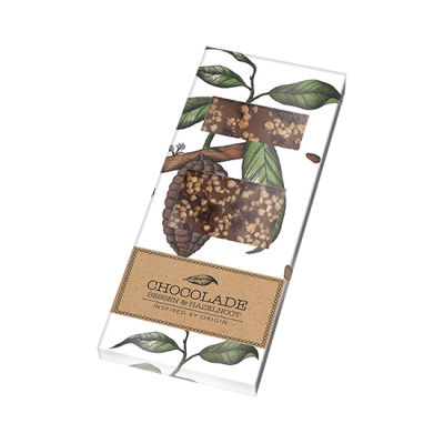 Botanische chocoladereep bessen hazelnoot