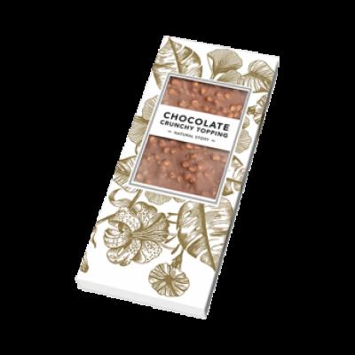 Botanische chocoladereep crunchy